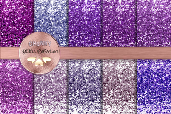 Purple Lovers Chunky Glitter Collection Graphic Backgrounds By AM Digital Designs