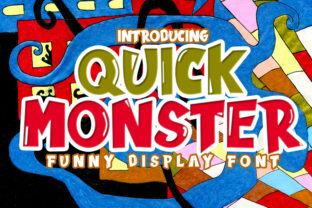 Print on Demand: Quick Monster Display Font By Eddygoodboy