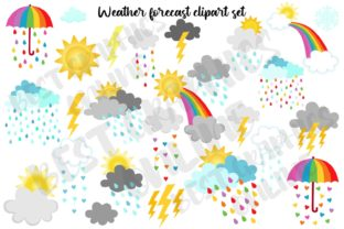 Rainbow Weather Clipart Forecast Rain Graphic Illustrations By bestgraphicsonline