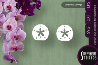 Sand Dollar Earrings Vector Cut Graphic Crafts By Sun At Night Studios