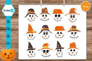 Print on Demand: Scarecrow Faces Bundle Graphic Crafts By All About Svg 2