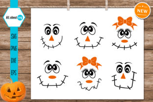 Print on Demand: Scarecrow Faces Bundle Graphic Crafts By All About Svg 3