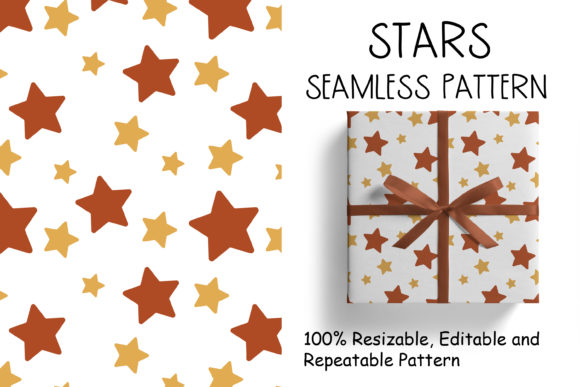 Seamless Pattern with Stars Grafik Muster von veidgenn
