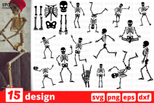Skeleton Silhouette SVG Bundle Graphic Crafts By SvgOcean