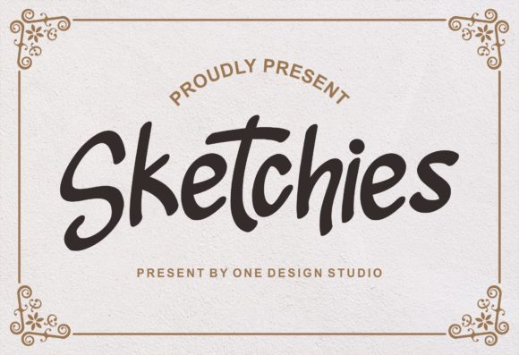 Print on Demand: Sketchies Script & Handwritten Font By One Desain