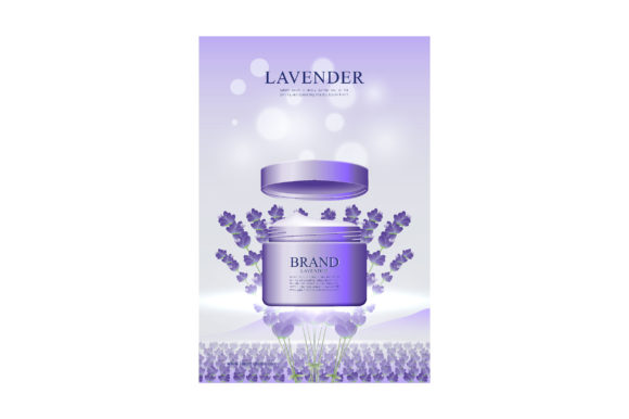 Skin Care Cream Poster in Lavender Graphic Illustrations By nhongrand