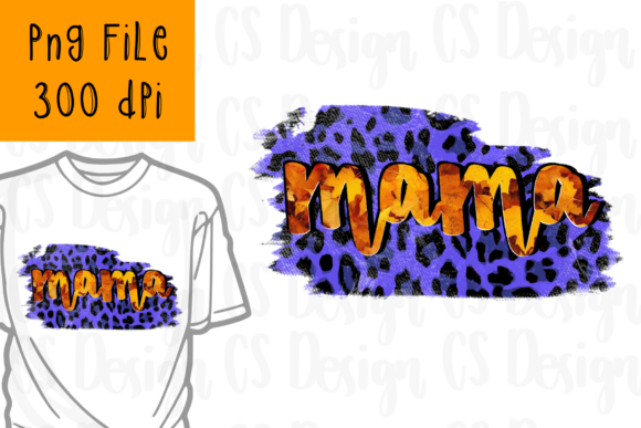Print on Demand: Sublimation Mama Leopard Buffalo Plaid Graphic Crafts By CSDesign