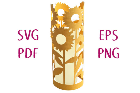 Print on Demand: Sunflower Garden Lantern 3D Graphic 3D SVG By Nic Squirrell