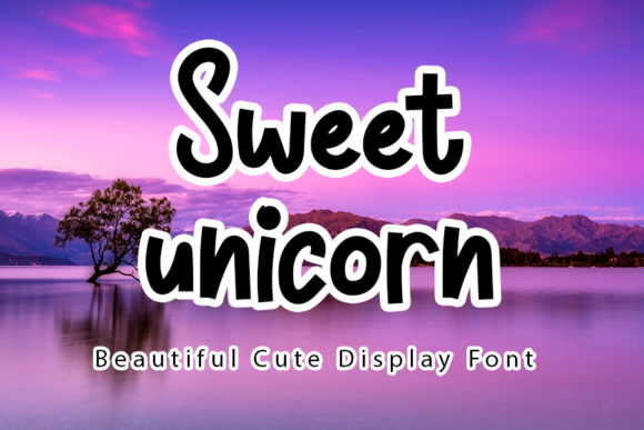 Print on Demand: Sweet Unicorn Display Font By ONE DESIGN