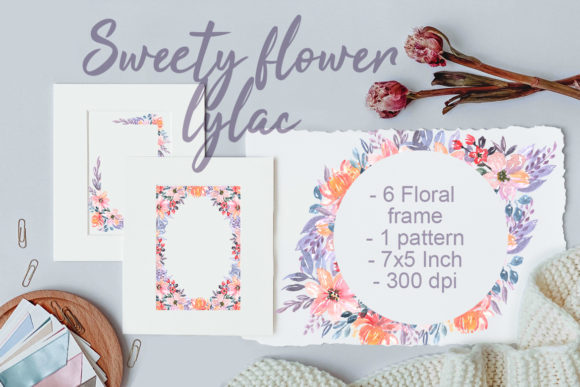 Print on Demand: Sweety Flower Lylac Watercolor Graphic Illustrations By OrchidArt