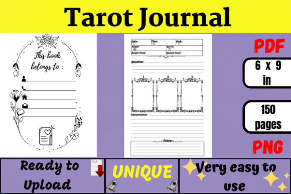 Tarot Journal ( KDP Interior ) Graphic KDP Interiors By Wiss_Tips designs