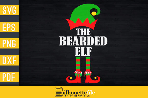 Print on Demand: The Bearded Elf Graphic Print Templates By Silhouettefile