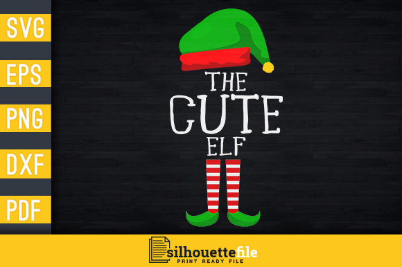 Print on Demand: The Cute Elf Graphic Print Templates By Silhouettefile