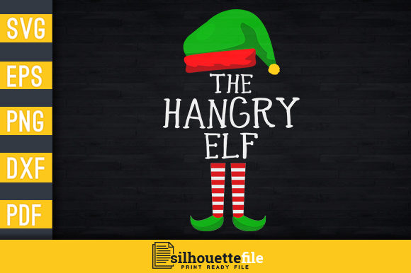 Print on Demand: The Hangry Elf Graphic Print Templates By Silhouettefile