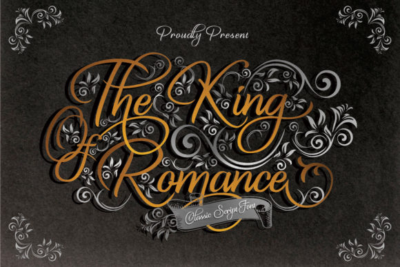 Print on Demand: The King of Romance Script & Handwritten Schriftarten von creativework69