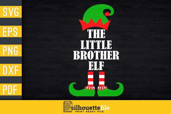 Print on Demand: The Little Brother Elf Graphic Print Templates By Silhouettefile
