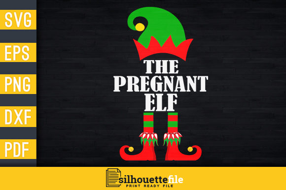 Print on Demand: The Pregnant Elf Graphic Print Templates By Silhouettefile