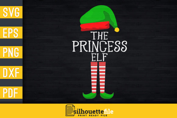 Print on Demand: The Princess Elf Graphic Print Templates By Silhouettefile
