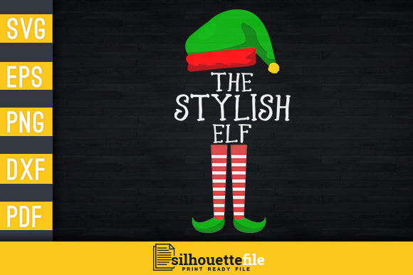 Print on Demand: The Stylish Elf Graphic Print Templates By Silhouettefile
