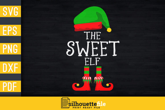 Print on Demand: The Sweet Elf Graphic Print Templates By Silhouettefile