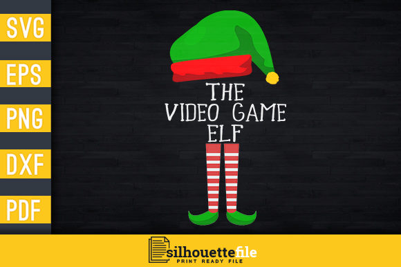 Print on Demand: The Video Game Elf Graphic Print Templates By Silhouettefile