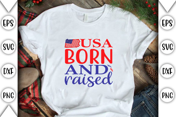 Print on Demand: Usa Born and Raised Graphic Crafts By store_svg