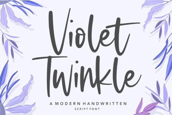 Print on Demand: Violet Twinkle Script & Handwritten Font By Balpirick