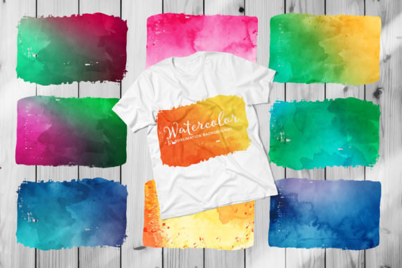 Print on Demand: Watercolor Sublimation Backgrounds Graphic Backgrounds By DTCreativeLab