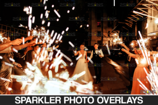 Wedding Sparkler Overlays & Photoshop Graphic Actions & Presets By 2SUNS