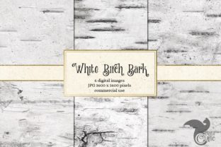 Print on Demand: White Birch Bark Textures Graphic Textures By Digital Curio