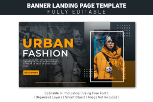 Banner Landing Page Urban Style Graphic Web Templates By ant project template
