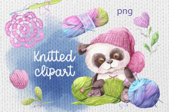 Print on Demand: Сlipart Knitted Elements Graphic Illustrations By nicjulia