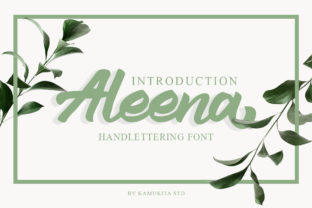 Print on Demand: Aleena Script & Handwritten Font By kamukita