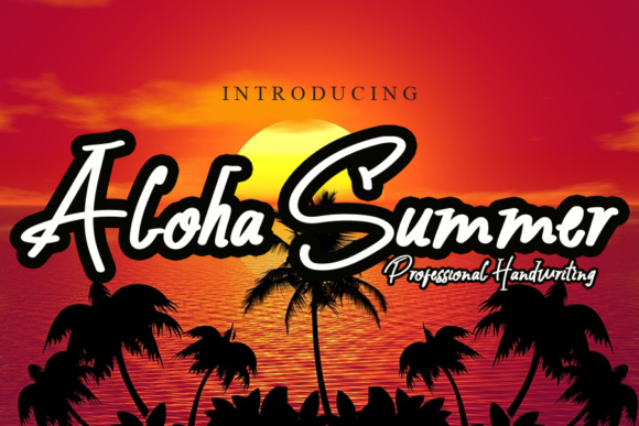 Print on Demand: Aloha Summer Script & Handwritten Font By ink paper