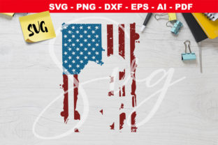 Print on Demand: American Flag Soldier Silhouette   Graphic Crafts By Novart