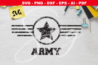 Print on Demand: Army Star Grunge Logo   Grafik Plotterdateien von Novart