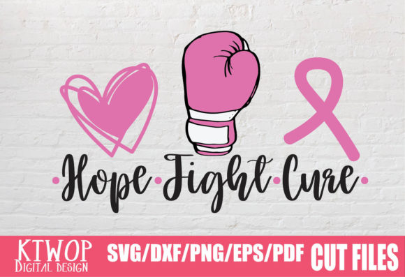 Print on Demand: Awareness Breast Cancer Hope Fight Cure Graphic Crafts By KtwoP