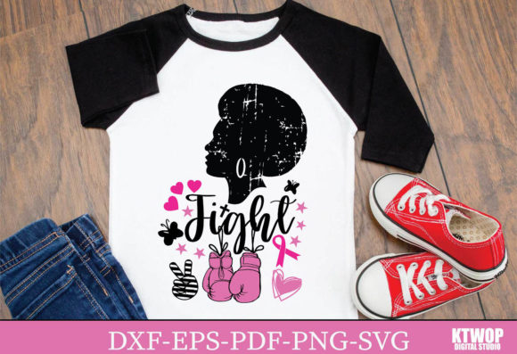 Print on Demand: Awareness of Breast Cancer Black Girl Graphic Crafts By KtwoP