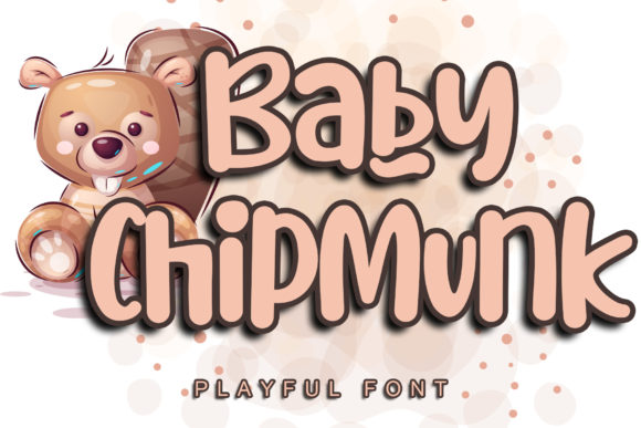 Print on Demand: Baby Chipmunk Script & Handwritten Font By Stefani Letter