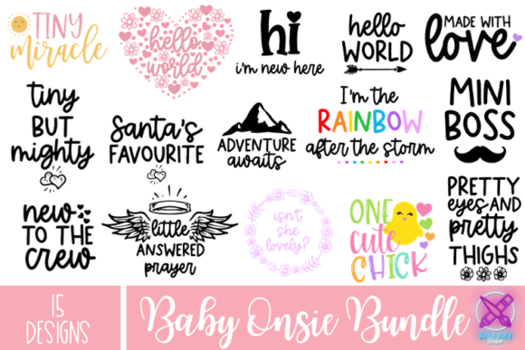 Baby Quotes Bundle, Baby Bundle SVG, Bab Graphic Crafts By Rumi Designed