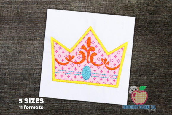 Birthday Crown Applique Birthdays Embroidery Design By embroiderydesigns101
