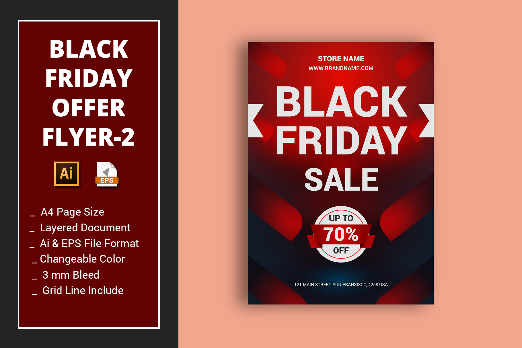 Black Friday Flyer Flyer 2 Graphic By Alimran24 Creative Fabrica