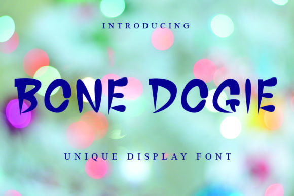 Print on Demand: Bone Dogie Display Font By ONE DESIGN