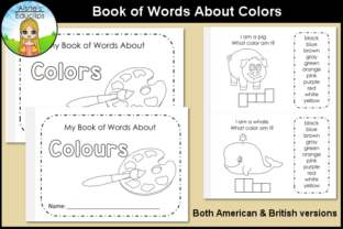 Print on Demand: Book of Words About Colors Graphic Teaching Materials By Aisne Educlips