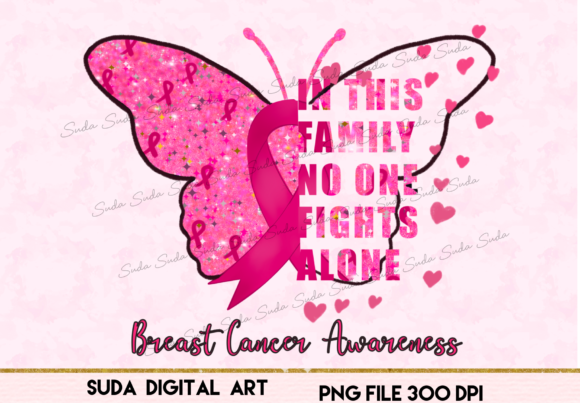 Print on Demand: Breast Cancer Beautiful Sublimation Graphic Illustrations By Suda Digital Art