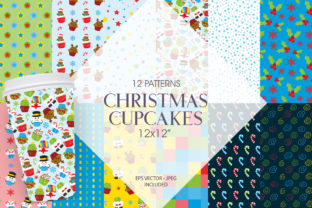 Print on Demand: Christmas Cupcakes Graphic Patterns By Prettygrafik