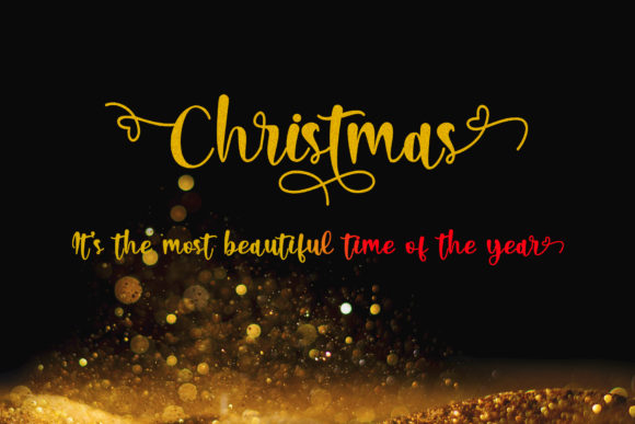 Christmas Lights Font Preview
