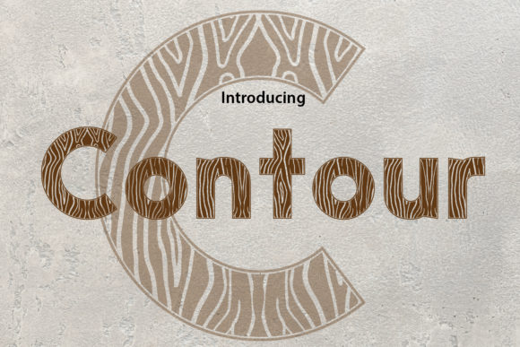 Print on Demand: Contour Display Font By da_only_aan