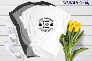 Print on Demand: Cozy Sweaters and Pumpkin Spice Graphic Print Templates By SVG_Huge