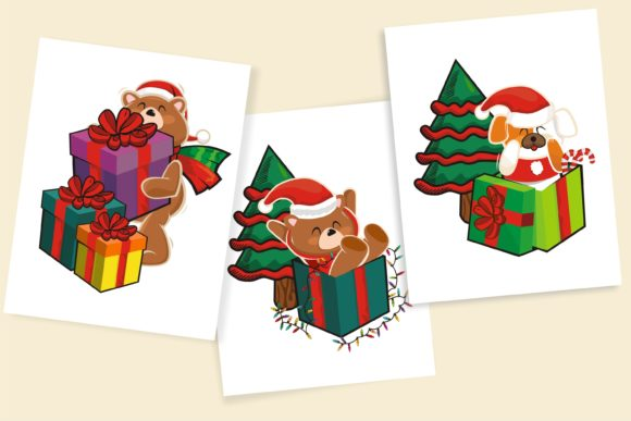 Cute Animal and Christmas Gift for Craft Graphic Illustrations By onoborgol